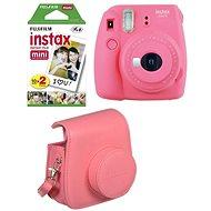 Fujifilm Instax Mini 9, rózsaszín + 20x film + tok + keret - Instant fényképezőgép