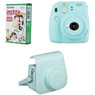 Fujifilm Instax Mini 9, világoskék + 10x fotópapír + tok - Instant fényképezőgép