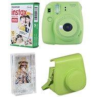 Fujifilm Instax Mini 9, citromzöld + 10x fotópapír + tok - Instant fényképezőgép