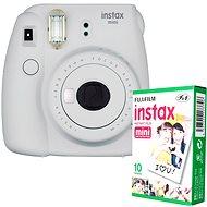 Fujifilm Instax Mini 9, fehér + 10x fotópapír - Instant fényképezőgép
