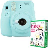 Fujifilm Instax Mini 9, világoskék + 10x fotópapír - Instant fényképezőgép