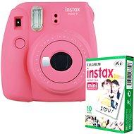 Fujifilm Instax Mini 9, rózsaszín + 10x fotópapír - Instant fényképezőgép