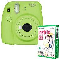 Fujifilm Instax Mini 9, citromzöld + 10x fotópapír - Instant fényképezőgép