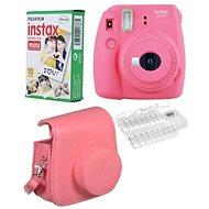 Fujifilm Instax Mini 9 rózsaszín LED bundle - Instant fényképezőgép