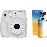 Fujifilm Instax Mini 9 szürkés-fehér + CALVIN KLEIN Eternity Summer 2017 EdP 100 ml - Instant fényképezőgép