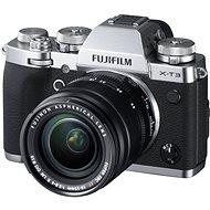 Fujifilm X-T3 ezüst + XF 18-55 mm R LM OIS - Digitális fényképezőgép