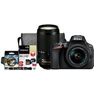 Nikon D5600 + AF-P 18-55mm VR + 70-300mm VR + Nikon Starter Kit - Digitális fényképezőgép