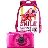 Nikon COOLPIX W100 rózsaszín hátizsák szett - Fényképezőgép gyerekeknek