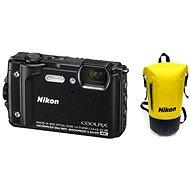 Nikon COOLPIX W300 Fekete Holiday Kit - Digitális fényképezőgép