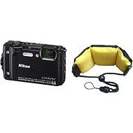 Nikon COOLPIX W300 fekete színű + 2-in-1 különleges pánt - Digitális fényképezőgép
