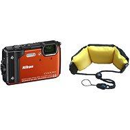 Nikon COOLPIX W300 narancssárga színű + 2-in-1 különleges pánt - Digitális fényképezőgép