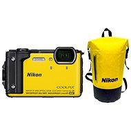Nikon COOLPIX W300 Sárga Holiday Kit - Digitális fényképezőgép