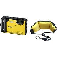 Nikon COOLPIX W300, sárga + 2 az 1-ben úszópánt - Digitális fényképezőgép