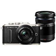 Olympus PEN E-PL8 fekete + ED 14-42 mm EZ Pancake objekív fekete + ED 40-150 mm objektív fekete - Digitális fényképezőgép