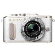 Olympus PEN E-PL8 - fehér + lencse ED 14-42 II R ezüst - Digitális fényképezőgép