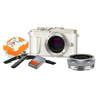 Olympus PEN E-PL9 fehér + M.Zuiko Pancake 14-42mm + Utazókészlet - Digitális fényképezőgép