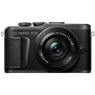 Olympus PEN E-PL10 fekete + Pancake Zoom készlet 14-42 mm fekete színű - Digitális fényképezőgép