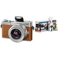Panasonic LUMIX DMC-GX800 barna + 12-32mm objektív + Alza Foto Starter Kit 32GB - Digitális fényképezőgép
