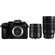 Panasonic LUMIX DC-G90 + Lumix G Vario 14-140mm, fekete + Panasonic Leica DG Elmarit 50-200mm f/2.8-4. - Digitális fényképezőgép