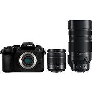 Panasonic LUMIX DC-G90 + Lumix G Vario 12-60mm, fekete + Panasonic Leica DG Vario-Elmar 100-400mm f/4. - Digitális fényképezőgép