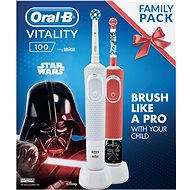 Oral-B Vitality White Cross Action + Vitality Star Wars - Elektromos fogkefe