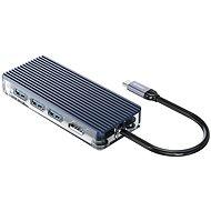 Orico USB-C Hub 6 in 1 Transparent, Power Delievery - USB Hub