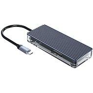 Orico USB-C Hub 7 in 1 Transparent, SD/TF reader, Power Delievery - Port replikátor