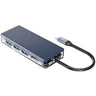 Orico USB-C Hub 8 in 1 Transparent, SD/TF reader, Power Delievery, Ethernet - USB Hub