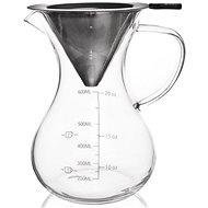 Vízforraló üveg / rozsdamentes acél 0,75 l mércével - Dripper