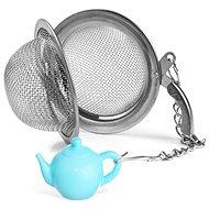 Rozsdamentes acél teaszűrő, 5,4 cm átmérő + KANCSÓ medál - Teaszűrő