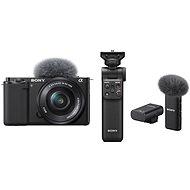 Sony Alpha ZV-E10 + 16-50mm f/3.5-5.6 + Grip GP-VPT2BT + Mikrofon ECM-W2BT - Digitális fényképezőgép