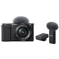 Sony Alpha ZV-E10 + 16-50mm f/3.5-5.6 + Mikrofon ECM-W2BT - Digitális fényképezőgép