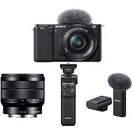 Sony Alpha ZV-E10 + 16-50mm f/3.5-5.6 + 10-18mm f/4.0 + Grip GP-VPT2BT + Mikrofon ECM-W2BT - Digitális fényképezőgép