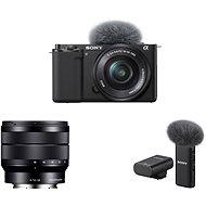 Sony Alpha ZV-E10 + 16-50mm f/3.5-5.6 + 10-18mm f/4.0 + Mikrofon ECM-W2BT - Digitális fényképezőgép