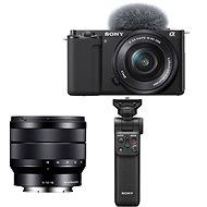 Sony Alpha ZV-E10 + 16-50mm f/3.5-5.6 + 10-18mm f/4.0 + Grip GP-VPT2BT - Digitális fényképezőgép