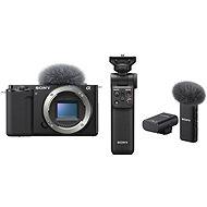 Sony Alpha ZV-E10 váz +  Grip GP-VPT2BT + Mikrofon ECM-W2BT - Digitális fényképezőgép