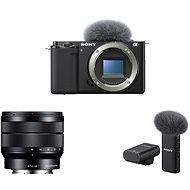 Sony Alpha ZV-E10 váz + 10-18mm f/4.0 + Mikrofon ECM-W2BT - Digitális fényképezőgép