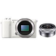 Sony Alpha A5100 fehér + 16-50mm objektív - Digitális fényképezőgép