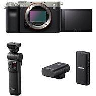 Sony Alpha A7C ezüst + GP-VPT2BT markolat + ECM-W2BT mikrofon - Digitális fényképezőgép