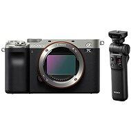 Sony Alpha A7C ezüst + Grip GP-VPT2BT - Digitális fényképezőgép