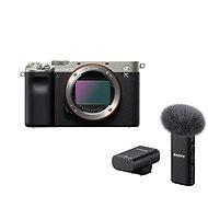 Sony Alpha A7C ezüst + ECM-W2BT mikrofon - Digitális fényképezőgép