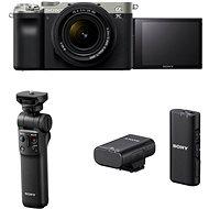 Sony Alpha A7C + FE 28-60mm ezüst + GP-VPT2BT markolat + ECM-W2BT mikrofon - Digitális fényképezőgép