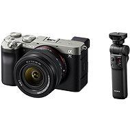 Sony Alpha A7C + FE 28-60mm ezüst + Grip GP-VPT2BT - Digitális fényképezőgép