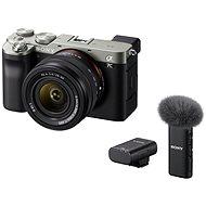 Sony Alpha A7C + FE 28-60mm ezüst + ECM-W2BT mikrofon - Digitális fényképezőgép