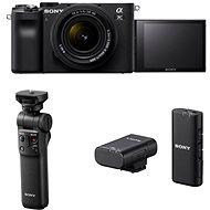Sony Alpha A7C + FE 28-60mm + GP-VPT2BT markolat + ECM-W2BT mikrofon - Digitális fényképezőgép