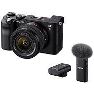 Sony Alpha A7C + FE 28-60mm fekete + ECM-W2BT mikrofon - Digitális fényképezőgép