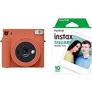 Fujifilm Instax Square SQ1 narancs + 10x fotópapír - Instant fényképezőgép