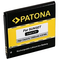 PATONA a Wiko Sunset 1300mAh 3.7V Li-Ion számára - Csere akkumulátor