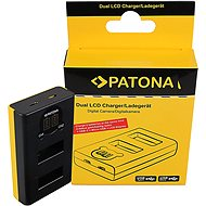 PATONA a Dual GoPro MAX-hoz LCD-vel - Töltő