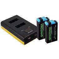PATONA - Dual GoPro MAX  LCD készülékhez + 2 x 1400mAh Premium-hoz - Akkumulátortöltő